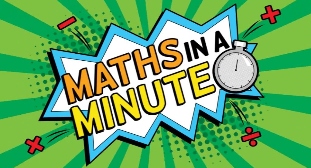 Video still from Maths in a minute, which tests pupils arithmetic skills.