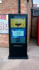 anomaly digital indoor and outdoor screen for schools